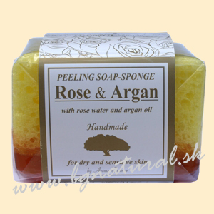 PEELING SOAP SPONGE ARGAN+ROSE 80 g