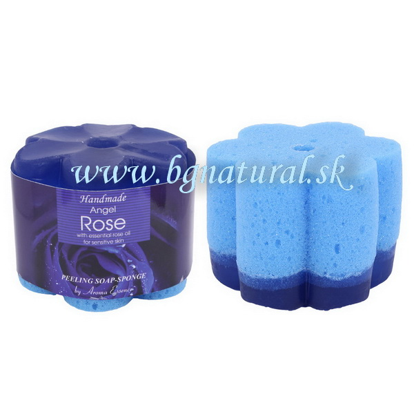 PEELING SOAP SPONGE ANGEL ROSE 70 g